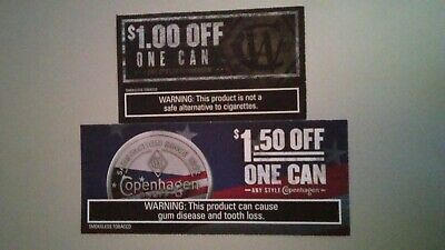 $1 & $1.50 Off 1 Can Any Style Copenhagen (Tobacco) Coupons Expires 9/30 & 11/30