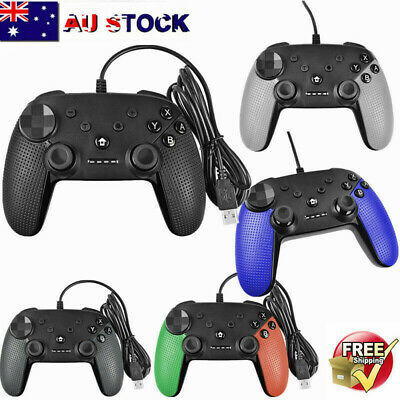 2019 Wired Pro Controller Gamepad Joypad Joystick Console For Nintendo Switch AU