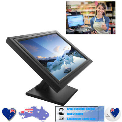 """17"""" Touch Screen Display Color CCTV Monitor VGA/USB Speaker POS Point of Sale AU"""