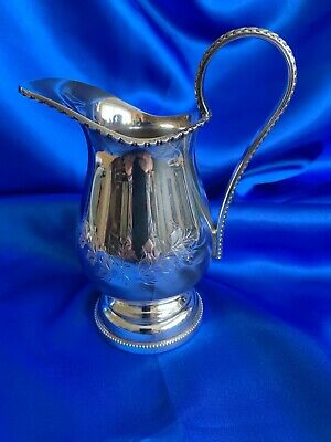 Vintage Silver Plate Cream Jug 14 Cms In Height Good Clean Condition