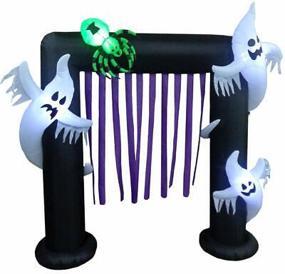 Impact Canopy Inflatable Outdoor Halloween Decoration, Ghost Arch, 8 Feet Tall