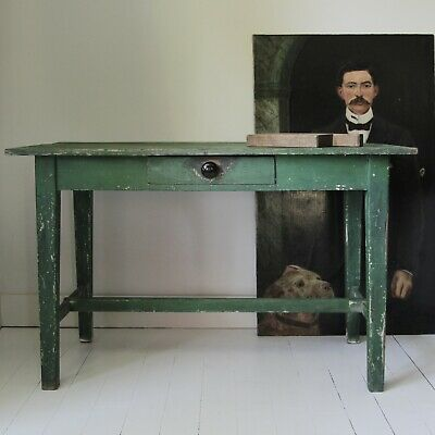 Rustic Hungarian painted hall table or desk