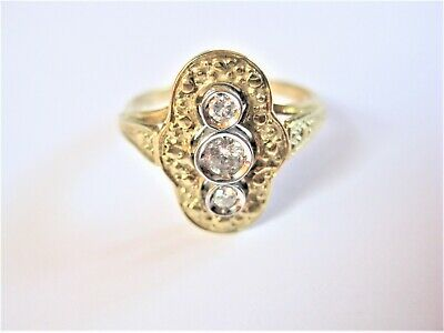 Art deco Ring Gold 585 mit Brillanten, 3,54 g