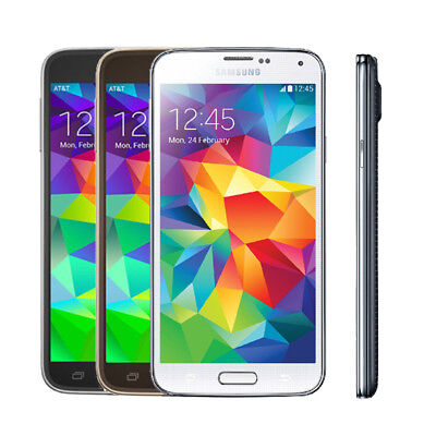 New Samsung Galaxy S5 G900F 16GB 16MP 4G LTE Unlocked Android Mobile Smartphone