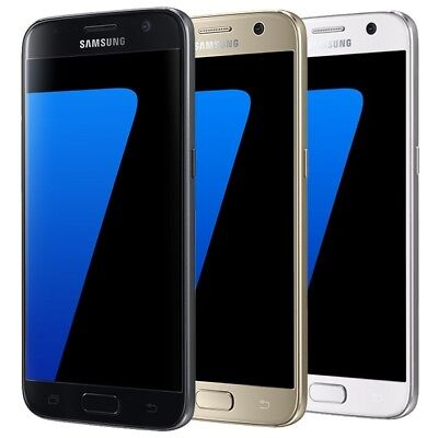 NEW SAMSUNG GALAXY S7 32GB G930F Android Unlocked 4G Smart Mobile Phone Black UK