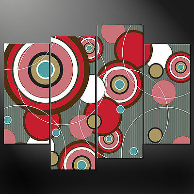 Abstract Circles Cascade Canvas Print Picture Ready To Hang