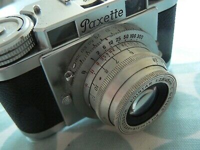 BRAUN PAXETTE 35mm FILM CAMERA POINTAR 45mm f2.8  with CASE, FILTER & MANUALS