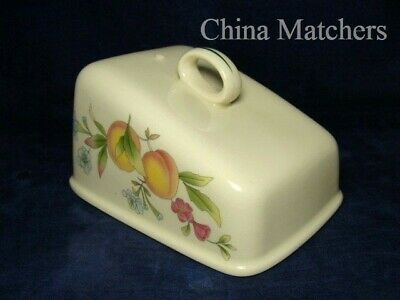 Cloverleaf Peaches & Cream Large Cheese Dish Lid ONLY, VGC