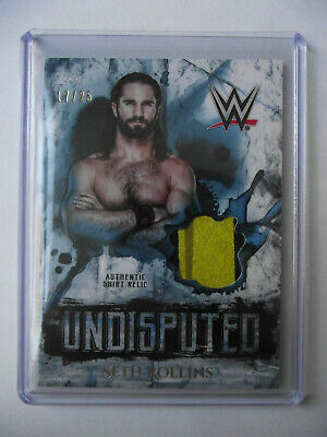 2018 Topps WWE Undisputed - Seth Rollins Shirt Relic Card 17/25