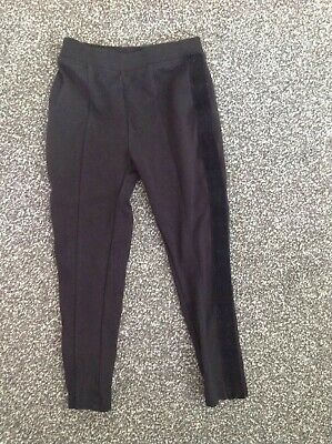 Girls Age 4 Next Black Trousers Vgc