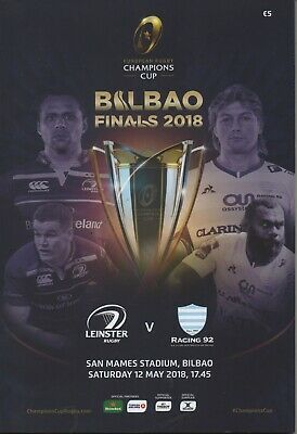 2018 LEINSTER v  RACING 92 (CHAMPIONS CUP FINAL 12/5/18)