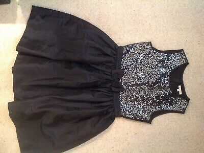 Blue Zoo designer at Debenhams party dress black silver age 14 years