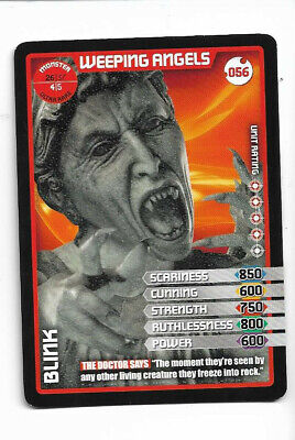 Doctor who the monster invasion trading card Weeping angel Embossed