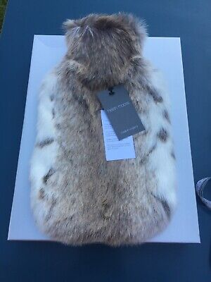 Helen Moore Faux Fur Hot Water Bottle Made In England Vegan New With Box