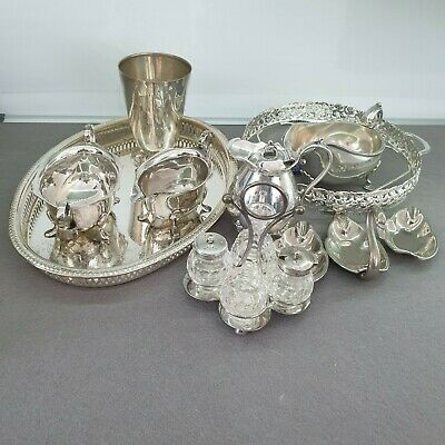 Large job lot of vintage and antique silver plated items