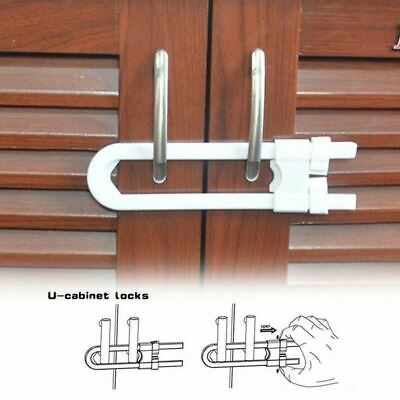 2pcs Baby Safety Lock Cabinet Drawer Wardrobe Doors Fridge Toilet Drawers