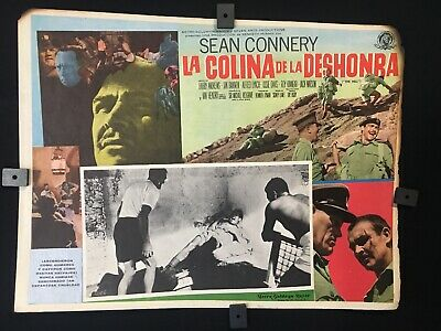 1965 THE HILL Sean Connery DRAMA/WAR AUTHENTIC MEXICAN LOBBY CARD