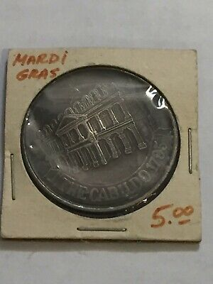 Mardi Gras New Orleans THE CABILDO 1975 Silver Coin