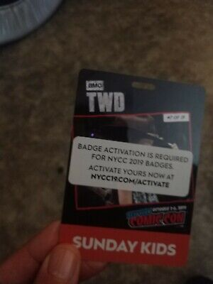 New York Comic Con 2019 Sunday Kids Badgers all badges are verified