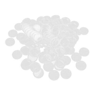 100pcs 25mm Coin Holder Capsules Clear Round Plastic Coin Container Case
