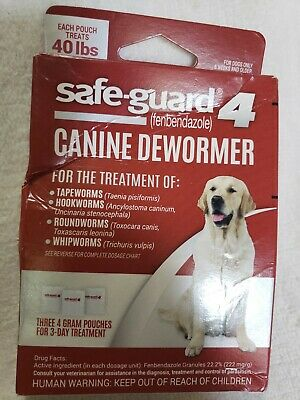 FREE SHIPPING 8 in 1 Safeguard 4 Canine Dewormer for Large Dogs 4gm
