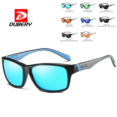 DUBERY Men Women Vintage Polarized Sunglasses Driving Shades UV400 Retro Square
