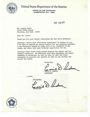 Governor Cecil Andrus Idaho Typed Letter Signed + a cut Signature (2) Signs