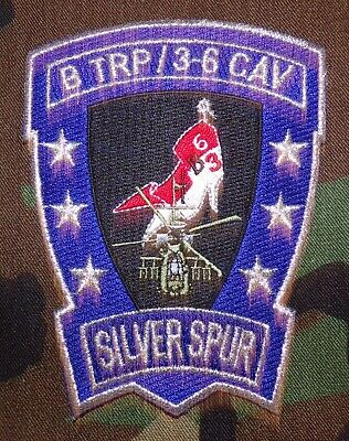 """US Army B Troop, 3rd Squadron, 6th Cavalry Regiment """"Silver Spur"""" Patch"""