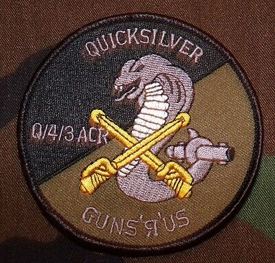 US Army Q Troop, 4th Squadron, 3rd Armored Cavalry Regiment Subdued Patch