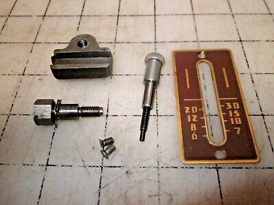 Singer Sewing Machine 301A Stitch Regulator Lever Assembly & Face Plate