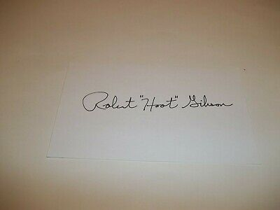 "Astronaut Robert ""Hoot"" Gibson Signed 3X5 Index Card   1D"