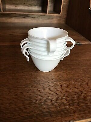 Set of 6 Corelle WINTER FROST WHITE Hook Handle Cups
