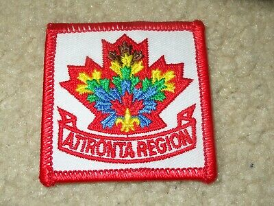 Boy Scout Atironta Region Canada District 2019 World Jamboree Trade Patch Badge