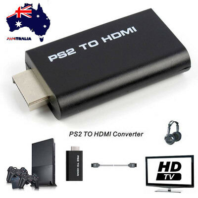 AU PS2 to HDMI Video Converter Composite AV to HDMI PlayStation 2 HD Adapter