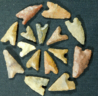 A Lot of FIFTEEN! Ancient North African Tidikelt Arrowheads or Points! 7.9 e