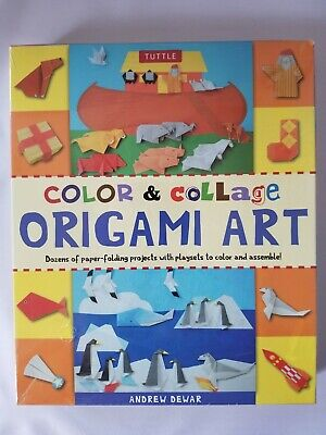 SEALED Color and Collage Origami Art Kit Andrew Dewar Craft Fun Tuttle