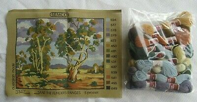 "SEMCO TAPESTRY KIT Unworked ""NEAR THE FLINDERS RANGES"" Complete with wool AS NEW"