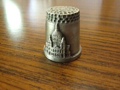 ST. PAUL'S CATHEDRAL LONDON | Pewter Collectible Thimble