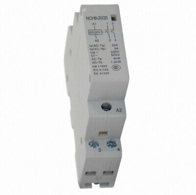 1 of Din rail Household Ac Contactor Relay with Fixed 2P 20A220V/230V2NO 50/60HZ