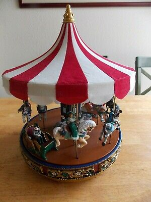 Mr Christmas Gold Label Traditional Carousel Music Box