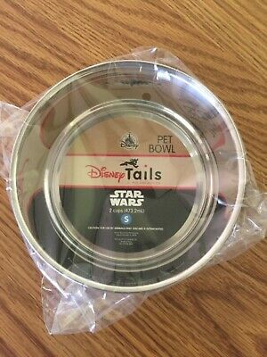 Disney Parks Star Wars Dog Cat Pet Dish Bowl Stainless 2 cup small -NEW