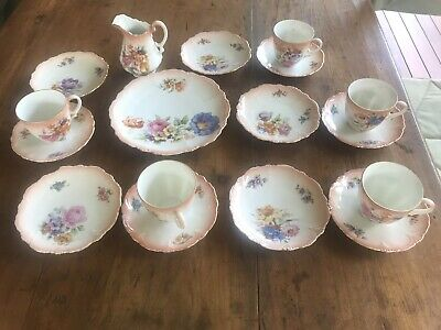 Antique tea set czechoslovakia European