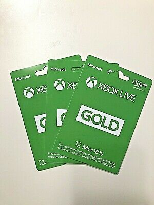 Microsoft 12 Month Xbox Live Gold Membership Subscription 0-24 Hours Delivery