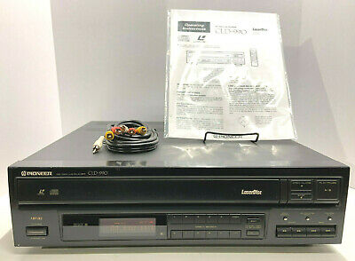 Pioneer Laserdisc Player CLD-990 CD LD CDV with Manual, AV Cables - Vintage 1991