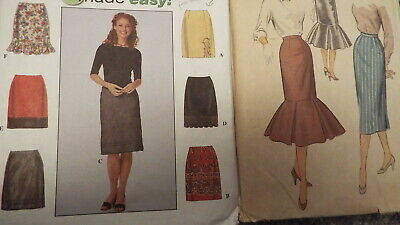 1940s VINTAGE Sewing PATTERN ADVANCE; 1999 SIMPLICITY - Misses SKIRTS * Lot of 2
