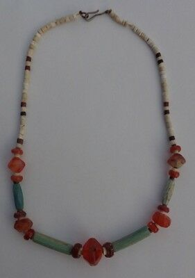 Beautiful Ancient Roman Faience / Carnelian Beads Necklace.