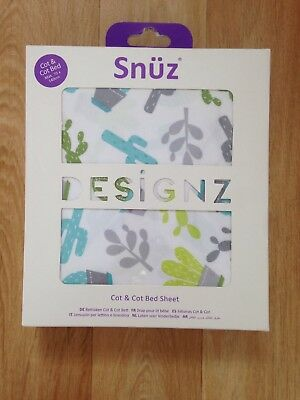 Snuz Cot & Cot Bed Fitted Sheet  Rootin Tootin Design Cowboy Print New