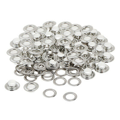 50 Sets Metal Eyelets with Washers for DIY Grommets Leather Accessories