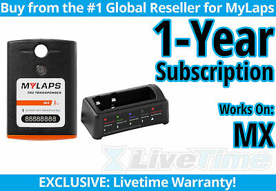 MyLaps TR2 MX (motocross) Rechargeable Transponder w/ 1-year Subscription