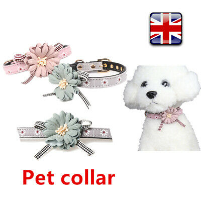 Dog Cat Flower Bowknot Pet Adjustable Collar Bow Tie Pet Grooming Collocation UK